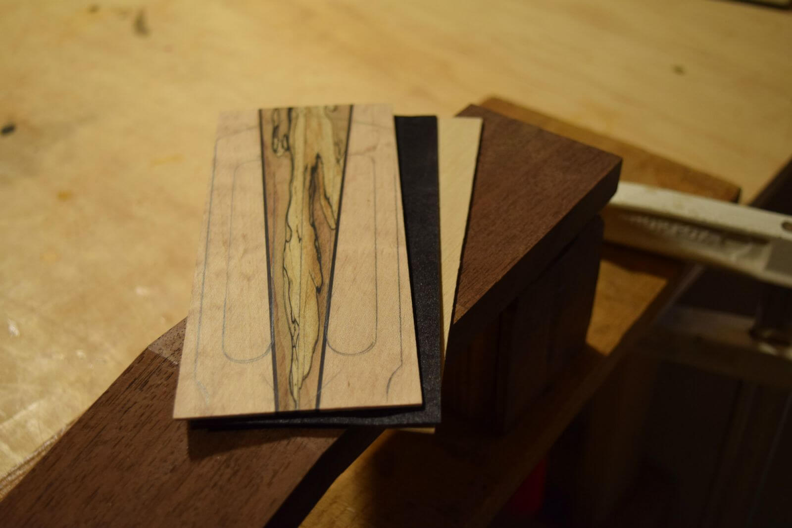 Headstock Veneers - Peruvian Walnut Guitar Neck
