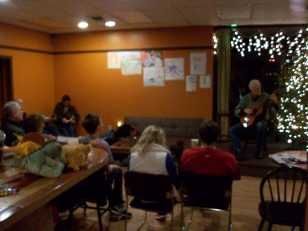 Dave Barger on stage at Solo Guitar Night