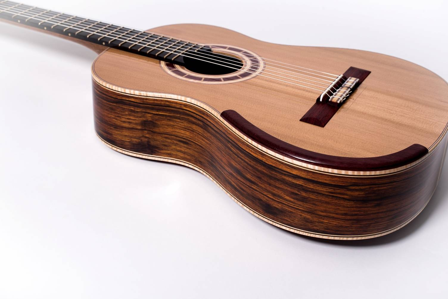 Padauk Classical Guitar Bridge