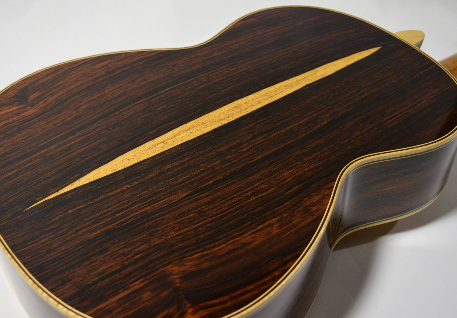 Some beautiful cocobola rosewood remained after Jose Oribe's retirement