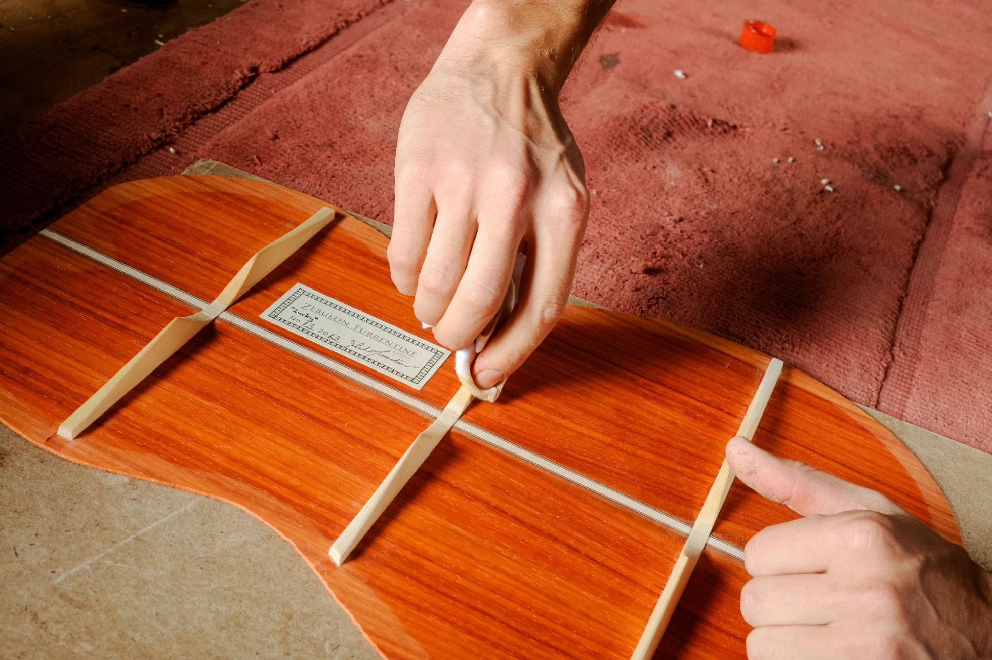 Sealing the Back with Shellac