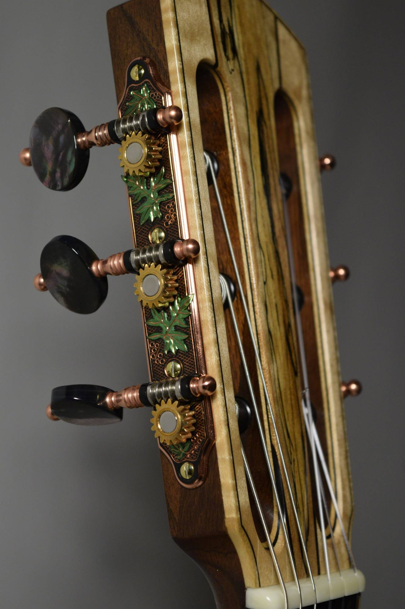 The tuners were custom made by Jorg Graf in Canada