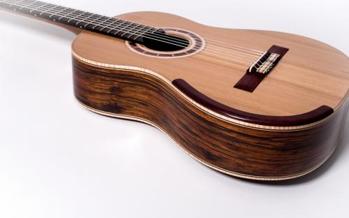 Padauk Classical Guitar Bridge