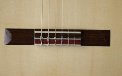Traditional Bridge with Purple Heart Tie Block