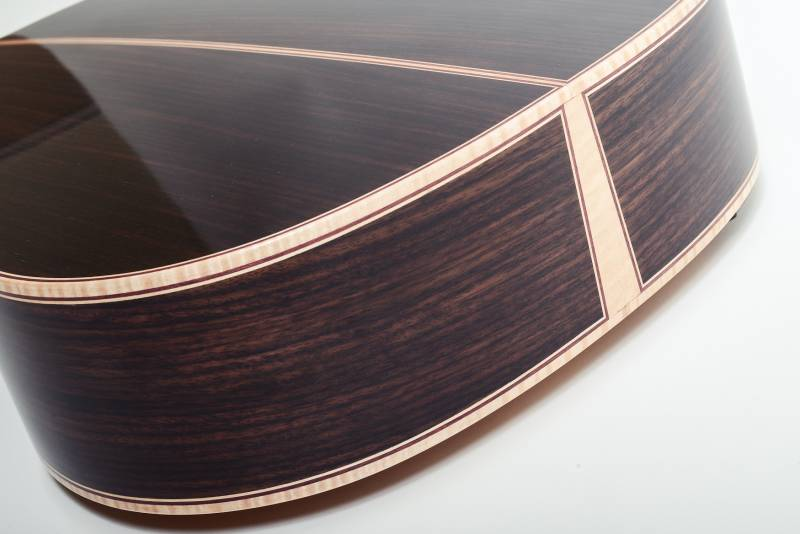 Tail Wedge Detail (Curly Maple and Purple Heart)