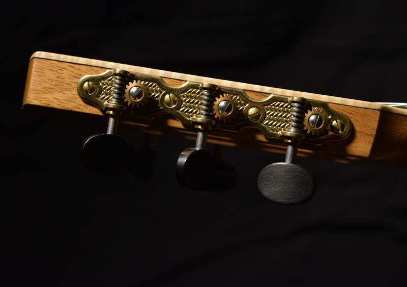 Sloane Tuning machines with ebony buttons and black rollers
