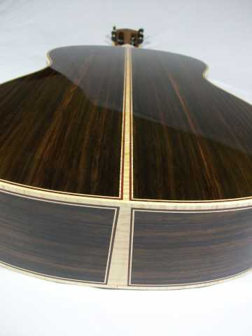 Tiger Maple Binding and Back Stripe